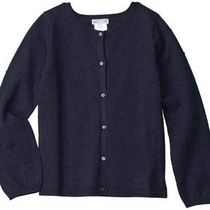 Jacadi Navy Blue Dotted Cardigan